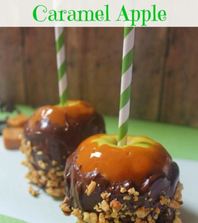 Snickers Inspired Caramel Apple
