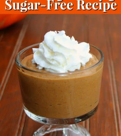 This delicious sugar-free pumpkin pudding recipe sweetened with Stevia.