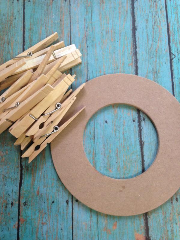 clothespin tea bag wreath materials