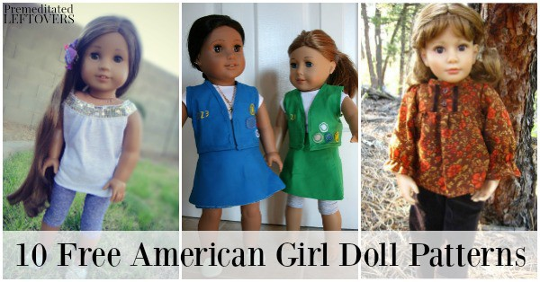 If you are looking to expand your daughter's doll's wardrobe, take a look at these 10 free American Girl clothes sewing patterns.