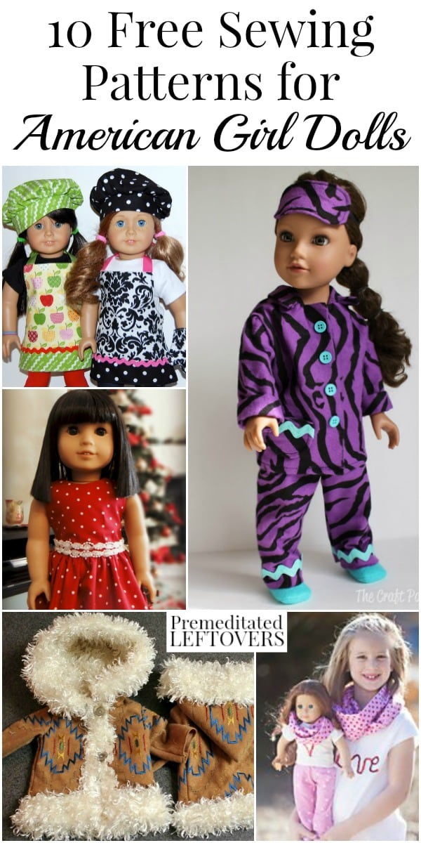 40 American Girl Doll Clothes Free Sewing Patterns Inspiration American Girl Patterns
