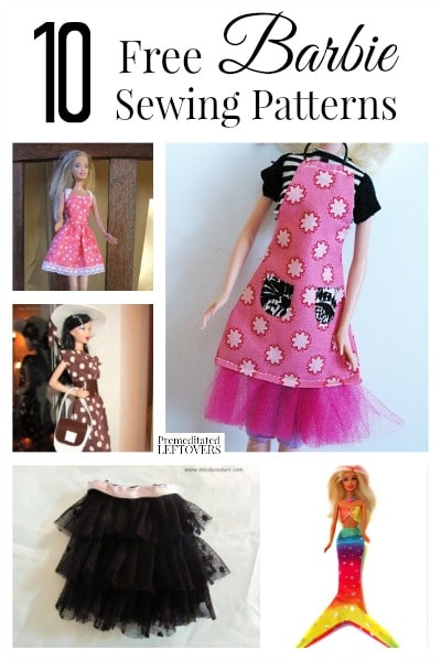 Making clothing for your child's Barbies can be fun and easy. Here are 10 free Barbie sewing patterns for you to try.
