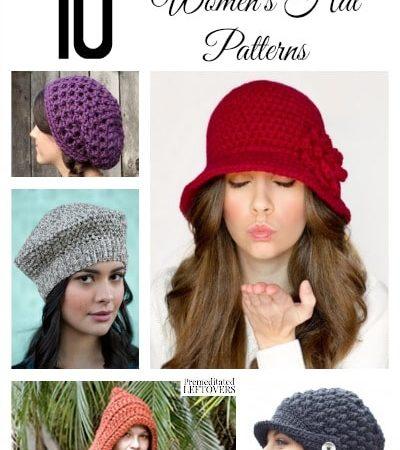 37660908315 10 Free Crochet Hat Patterns for Women