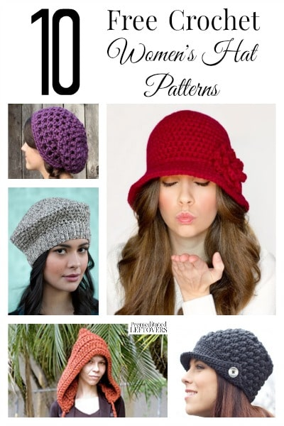 63198cdf716 10 Free Crochet Hat Patterns for Women