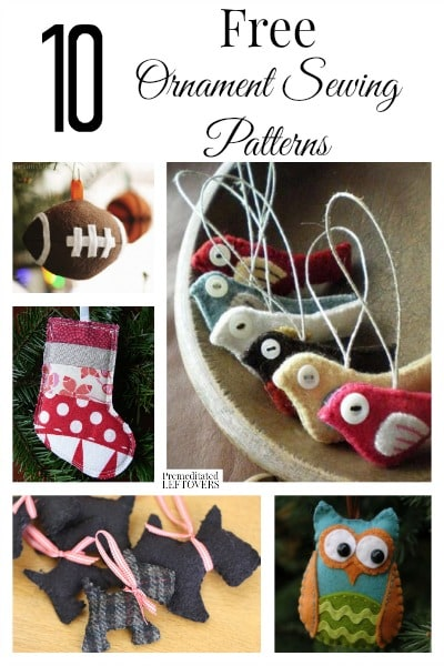 10 Free Ornament Sewing Patterns