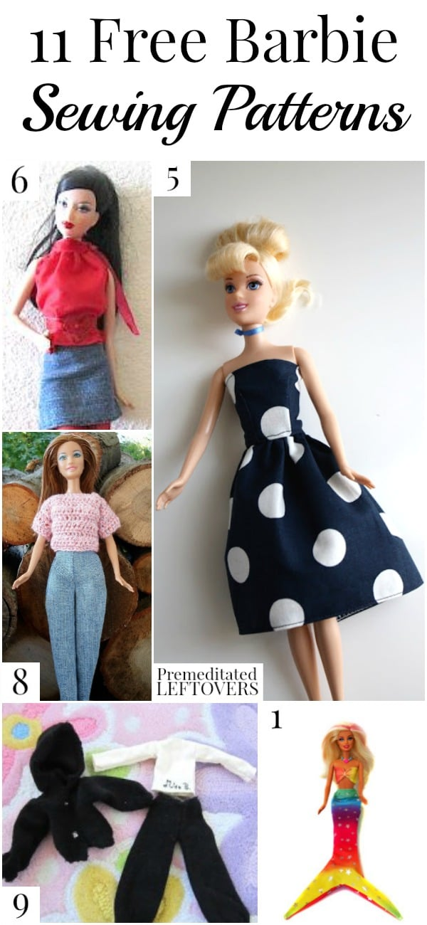 Making clothing for your child's Barbies can be fun and easy. Here are 11 free Barbie sewing patterns for you to try.