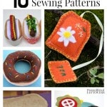15 Free Felt Food Sewing Patterns