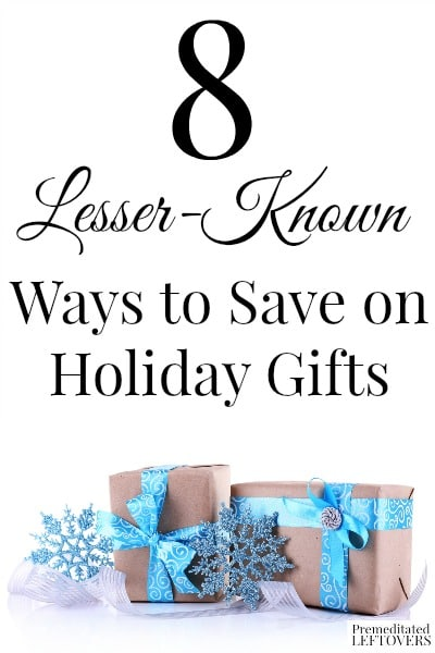 There are many ways to save on holiday gifts if you are creative. Here are some lesser-known ways to save on holiday gifts you may not have heard of before.