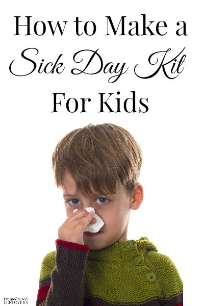 With cold and flu season coming up, it is a good idea to have a sick day kit on hand. Here are some tips on How to Make a Sick Day Kit for Kids.