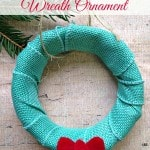 DIY Canning Jar Lid Wreath Ornament
