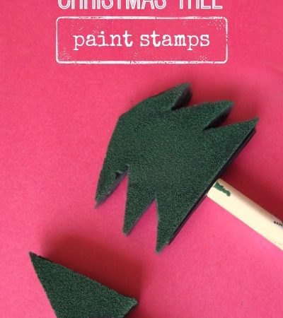 Christmas tree paint stamps