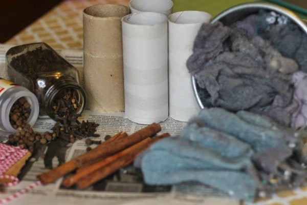 DIY scented fire starter supplies