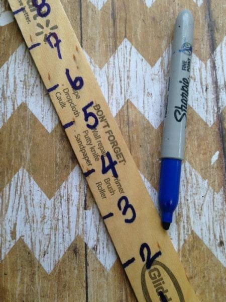 how to make a snow measuring stick