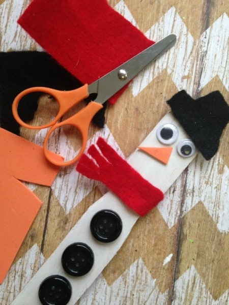 snowman snow measuring stick craft