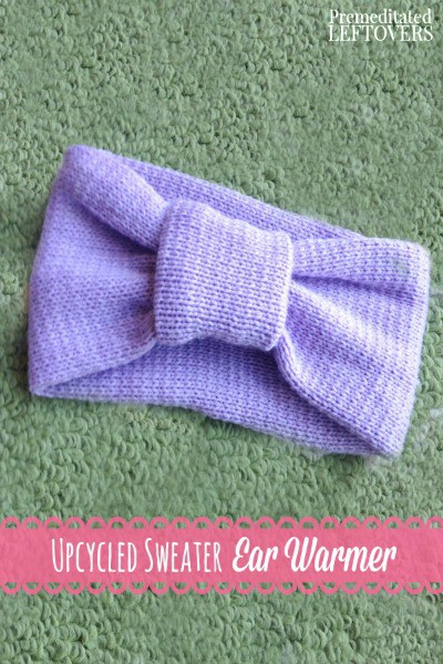 This DIY Sweater Ear Warmer is a cute and practical way to upcycle an old sweater and only requires basic hand sewing skills.