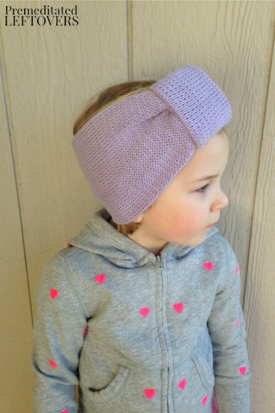 Upcycled Sweater Earwarmer