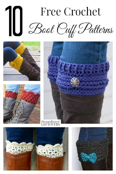 10 Free Crochet Boot Cuff Patterns