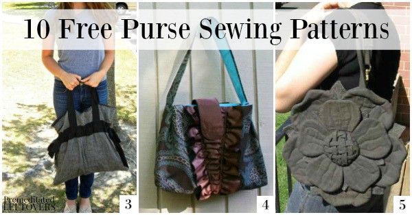10 Free Purse Sewing Patterns