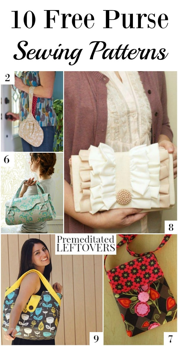 Here are 10 Free Purse Sewing Patterns that are perfect for making a unique handmade gift or adding a one-of-a-kind purse to your own collection.
