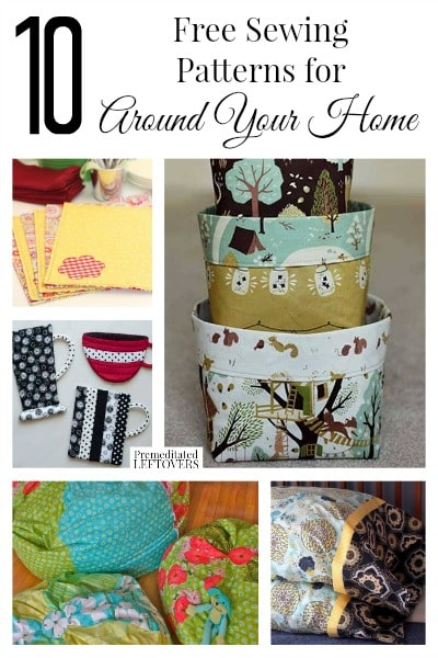 Looking for a low-cost DIY upgrade to your home decor? Check out these 10 Free Home Decor Sewing Patterns for inspiration!