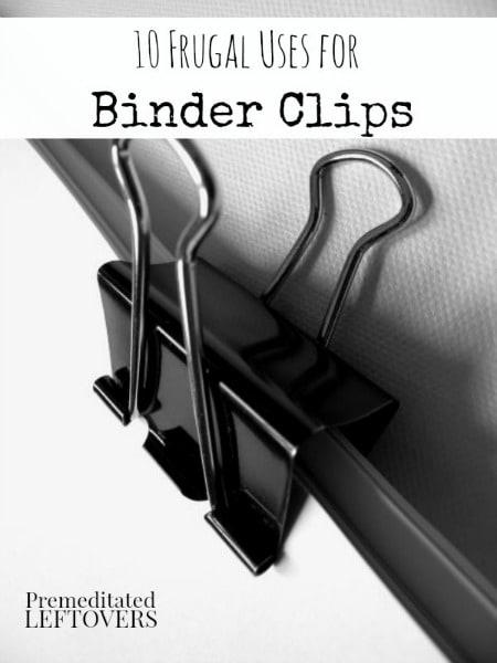 10 frugal uses for binder clips. Black Bedroom Furniture Sets. Home Design Ideas