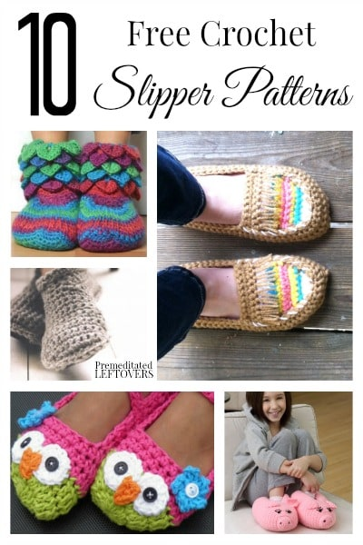 Free Crochet Patterns For Childrens Slipper Boots : 10 Free Crochet Slipper Patterns