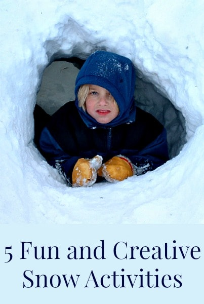 5 Fun Snow Activities You Probably Have Never Heard Of- If your kids get bored playing out in the snow this winter, try these new and exciting activities!