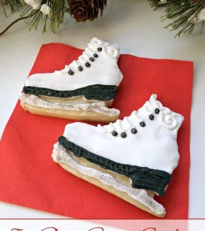 Ice Skate Christmas Sugar Cookies