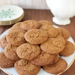Low-sugar molasses cookies recipe