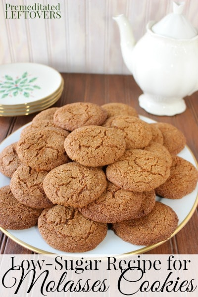 Low-Sugar Molasses Cookies Recipe - These molasses cookies are made with molasses and Stevia In The Raw to create a delicious low-sugar cookie.