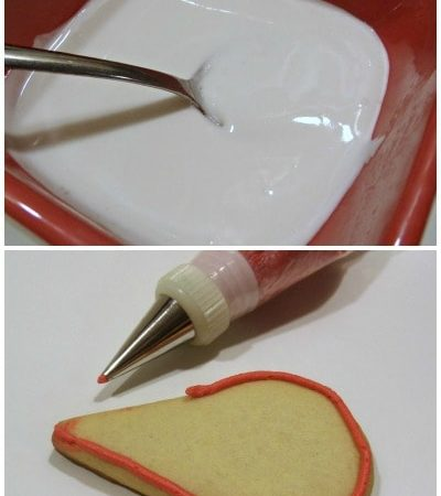 Royal Icing Recipe and Instructions for Decorating Sugar Cookies: How to make royal icing and use it to pipe and flood sugar cookies when decorating cookies.