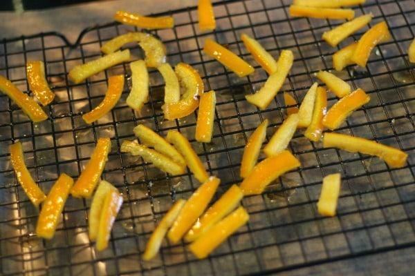 candied orange peel dry