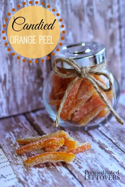 How to Make Candied Orange Peel - Recipe and Tutorial. Use this easy recipe to make candied orange peel. Make a delicious treat and a wonderful gift.