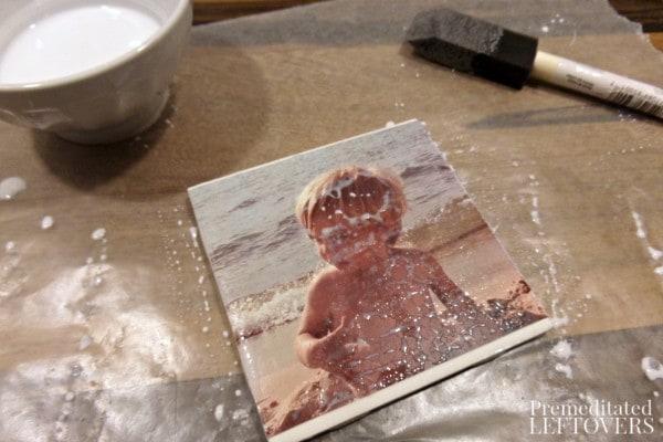 DIY Ceramic Tile Photo Gifts