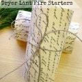 Fancy DIY Dryer Lint Fire Starters