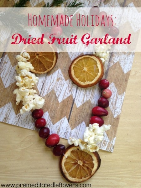 Making your own dried fruit garland is a fun and frugal way to decorate for the holidays. Here is a simple tutorial for a DIY Dried Fruit Garland.