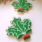 Holly Leaf Sugar Cookies