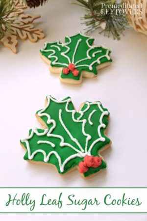 How To Make Holly Leaf Sugar Cookies Using Maple Leaf