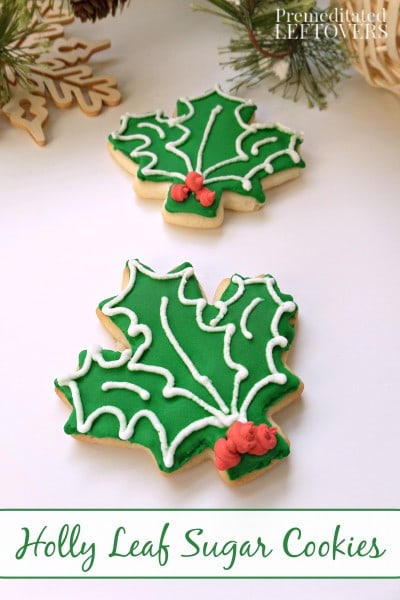 Holly Leaf Sugar Cookies