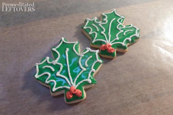 Holly Leaf Cookies