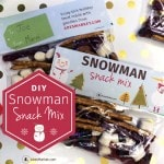 how to make snowman snack mix recipe