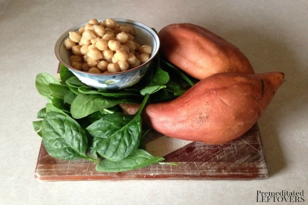 Slow Cooker Baby Food with Sweet Potato, Spinach, and Chick Peas