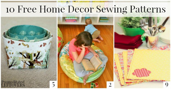 Looking for a low-cost, DIY upgrade to your home decor? Check out these 10 Free Home Decor Sewing Patterns for inspiration!