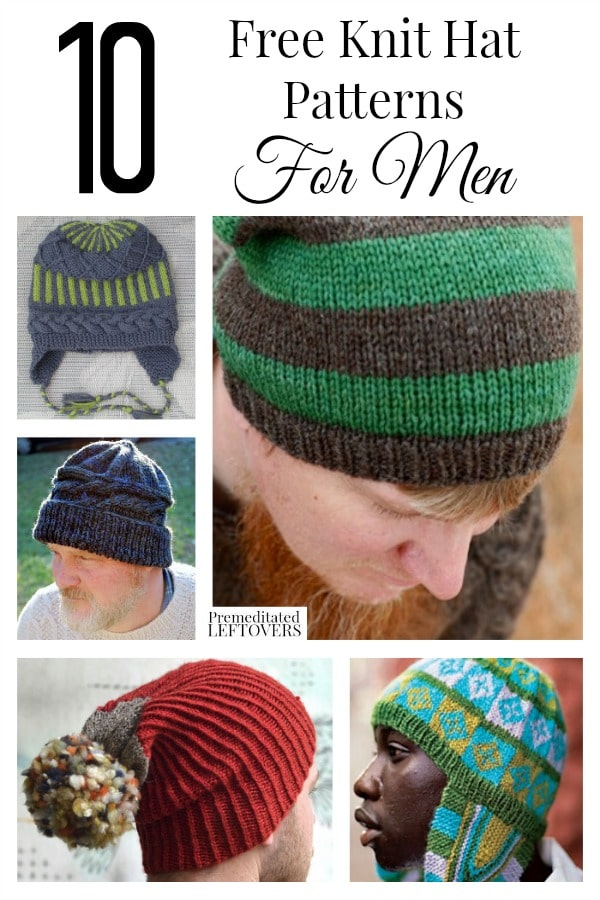Knit Hat Patterns Not In The Round : 10 Free Knit Hat Patterns for Men