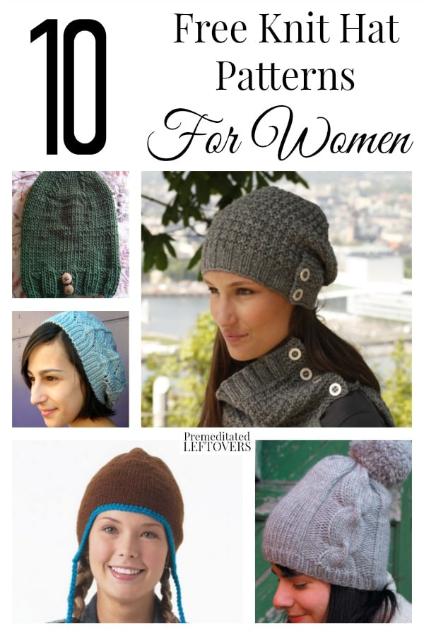 10 Free Knit Hat Patterns For Women
