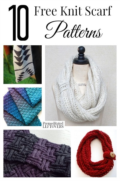 10 Free Knit Scarf Patterns