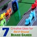 Make use of your unused, old board games with these 7 Creative Uses for Old Board Games. Game boards and pieces can be used in more ways than you may think!