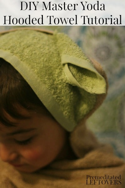 Easy DIY Master Yoda Hooded Towel Tutorial