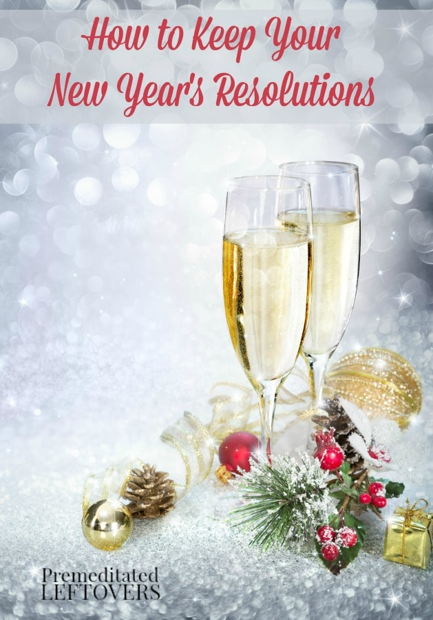 How to keep your New Year's resolutions - Tips on keeping two of the most popular resolutions by setting small goals and increasing your chance of success.
