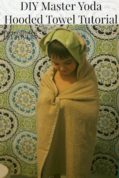 How to make a Yoda Hooded Towel - Tutorial and tips